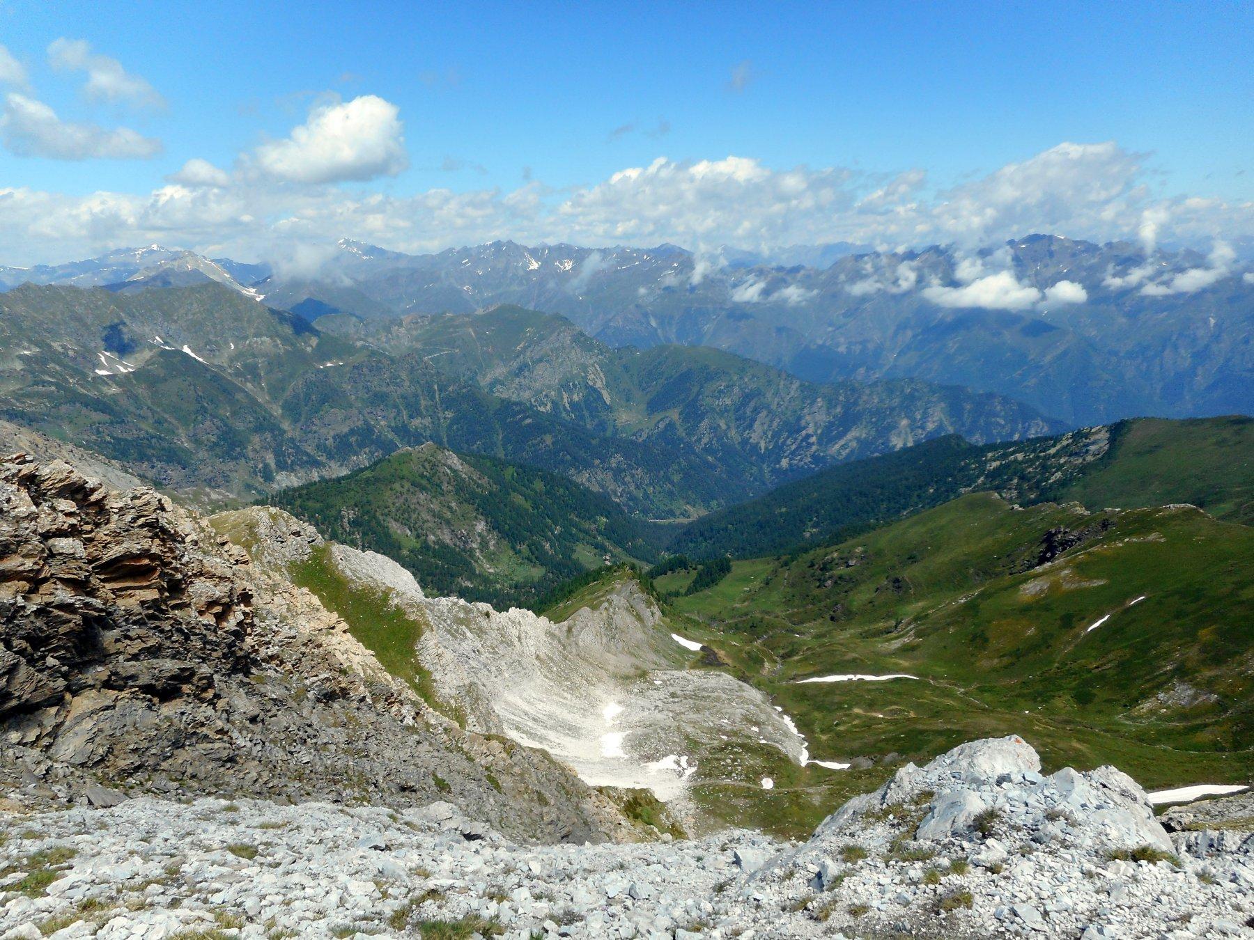 panorama verso la Val Pellice