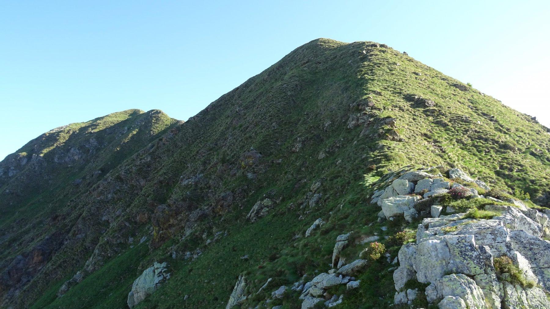 Primo tratto di cresta alla Sponda Camoscera.