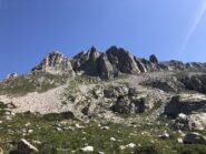 La fine della Cresta con la Cima Valcuca