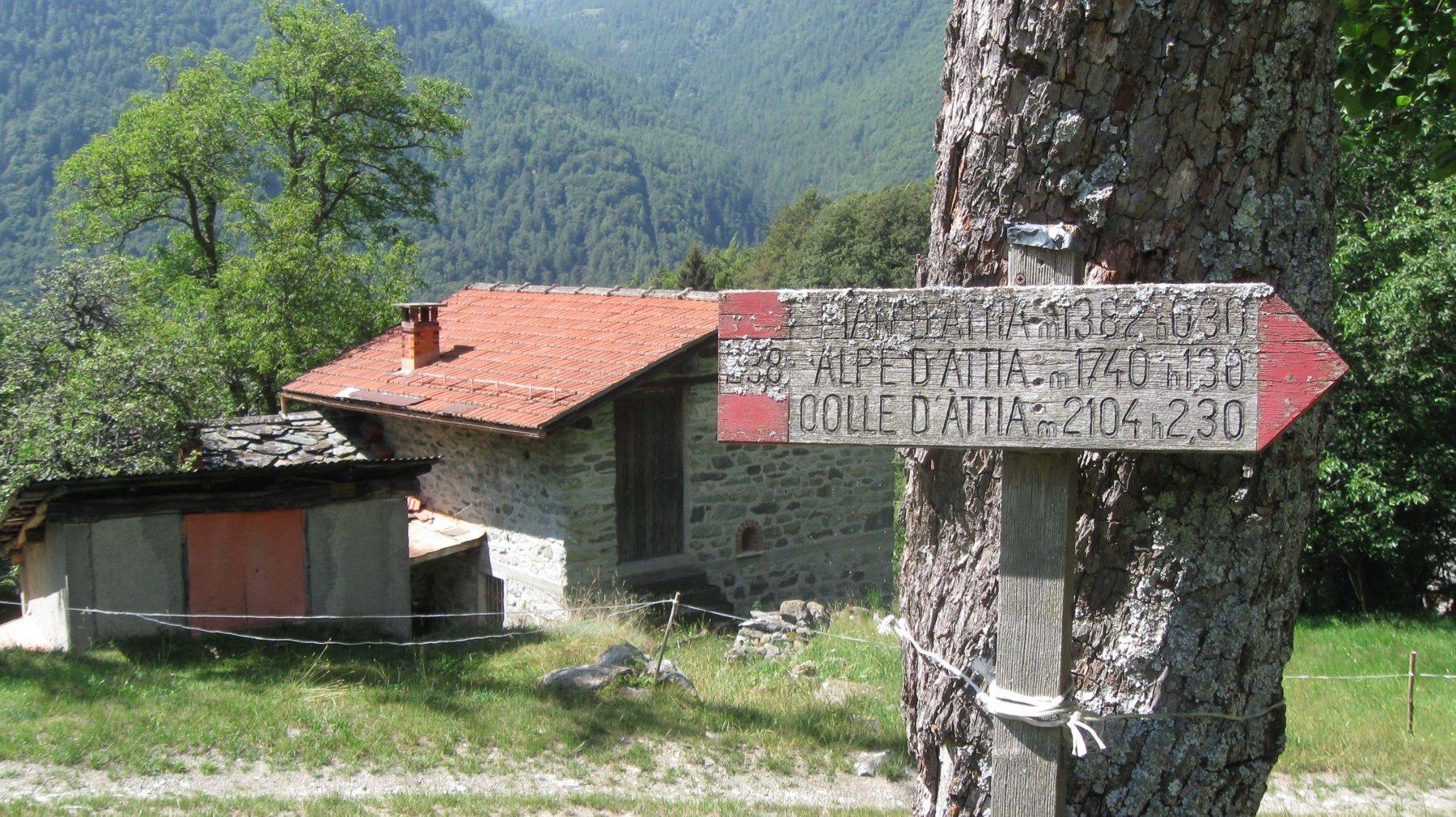 Variante sentiero x pian d'Attia