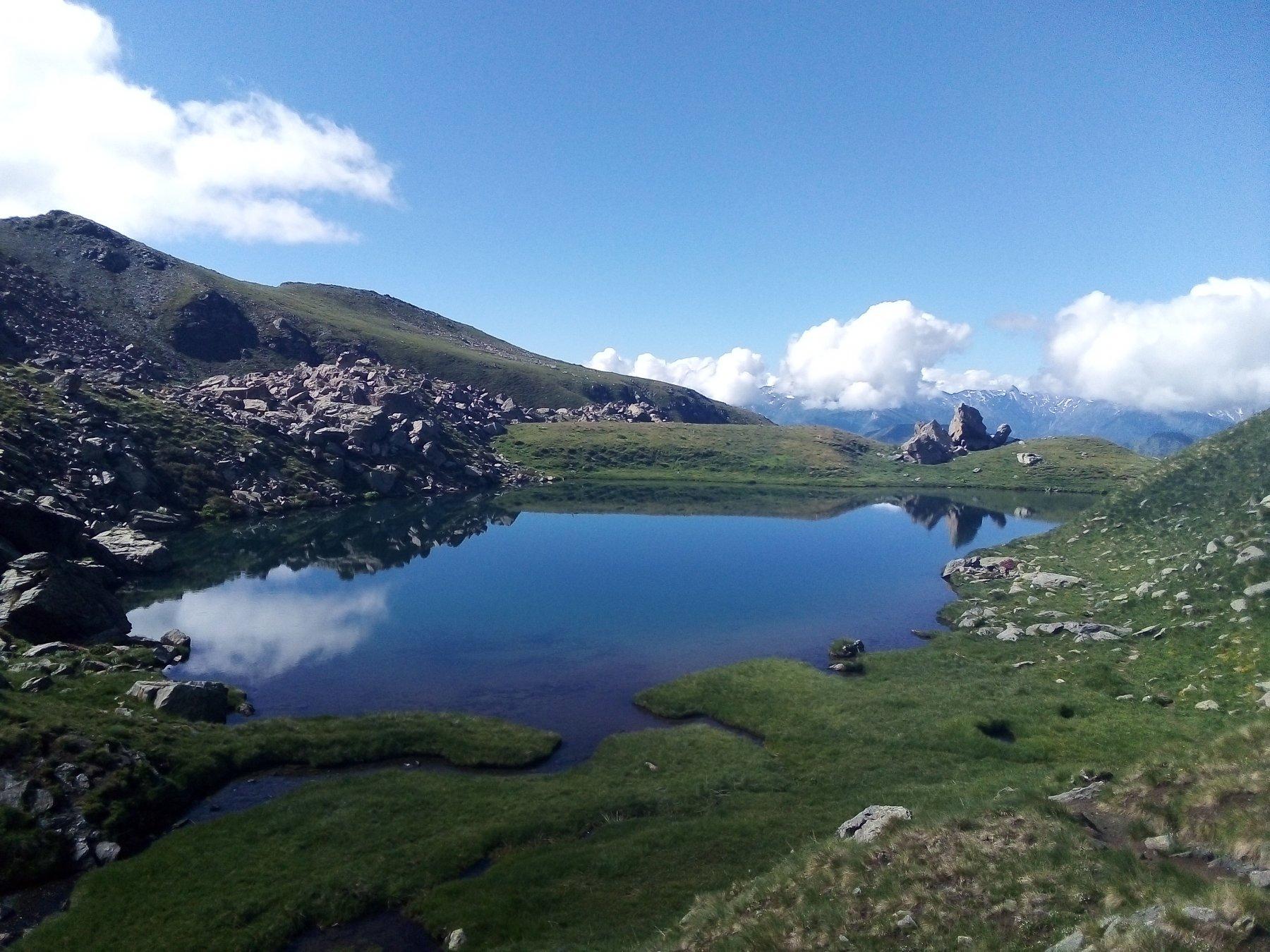 Al lago Manica.