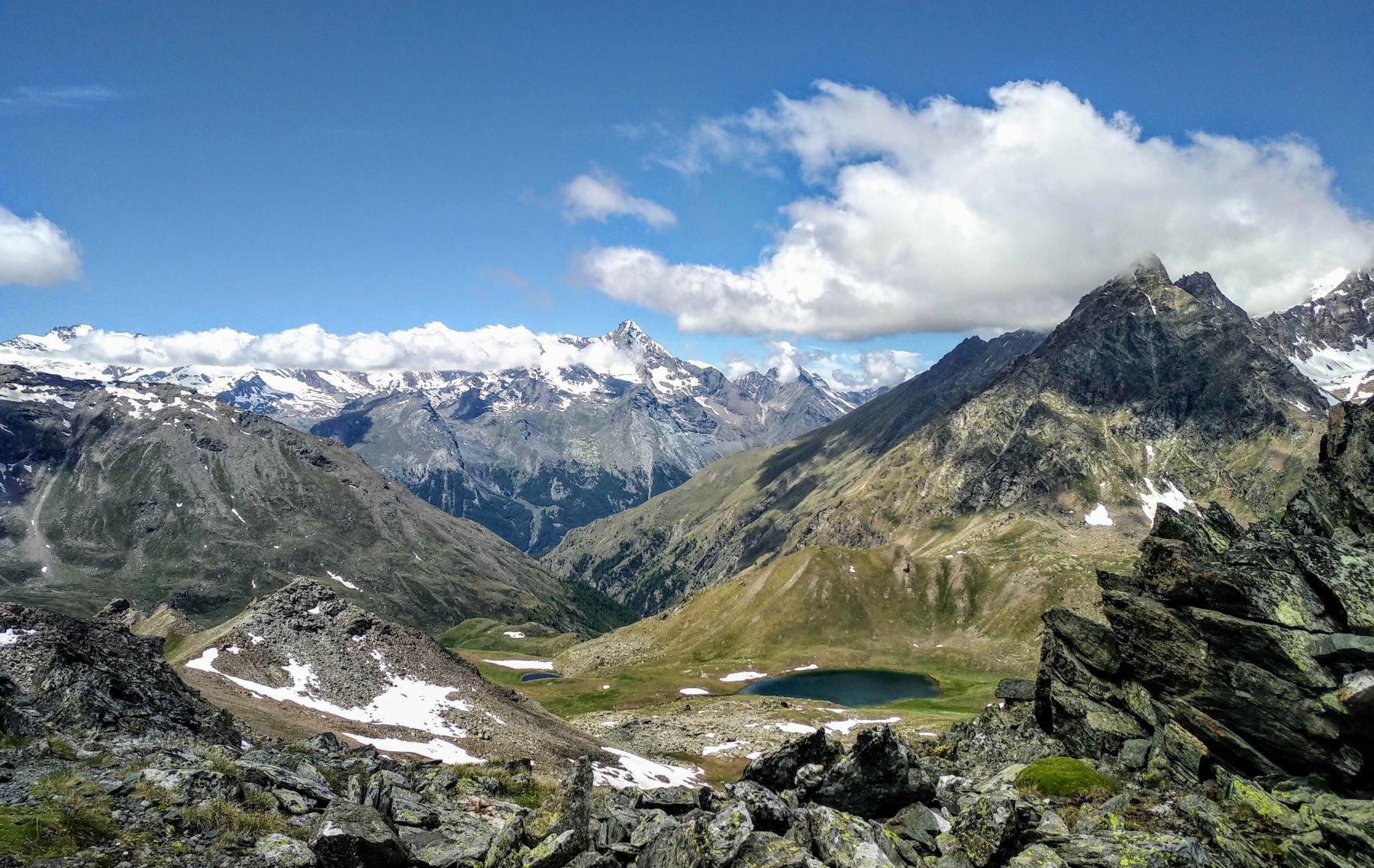 il lago Coronas dal colle di Saint Marcel