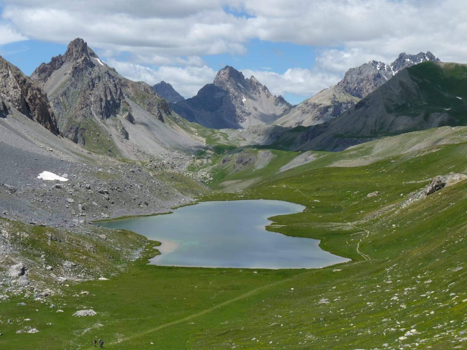 Al ritorno passaggio al Lago dell'Oronaye