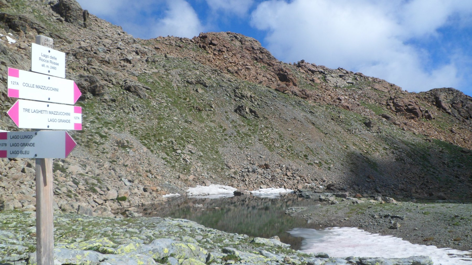 Lago delle Rocce Rosse