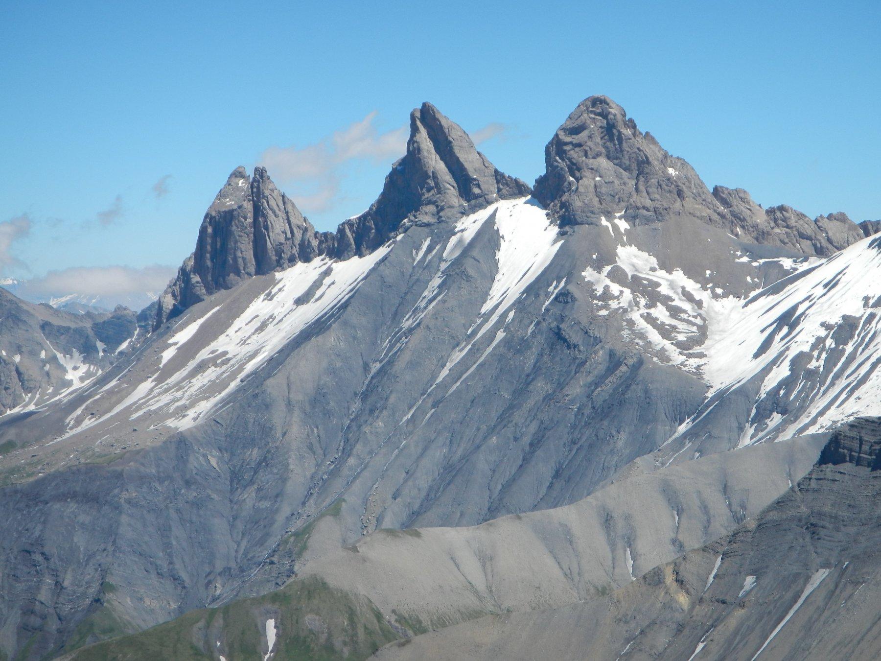 dalla cima: Aiguilles d'Arves