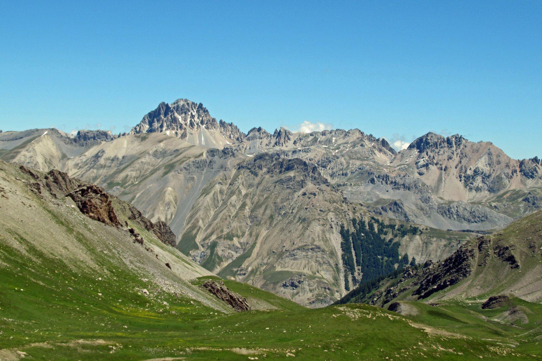 Vista sull' Oronaye poco prima del colle Puriac