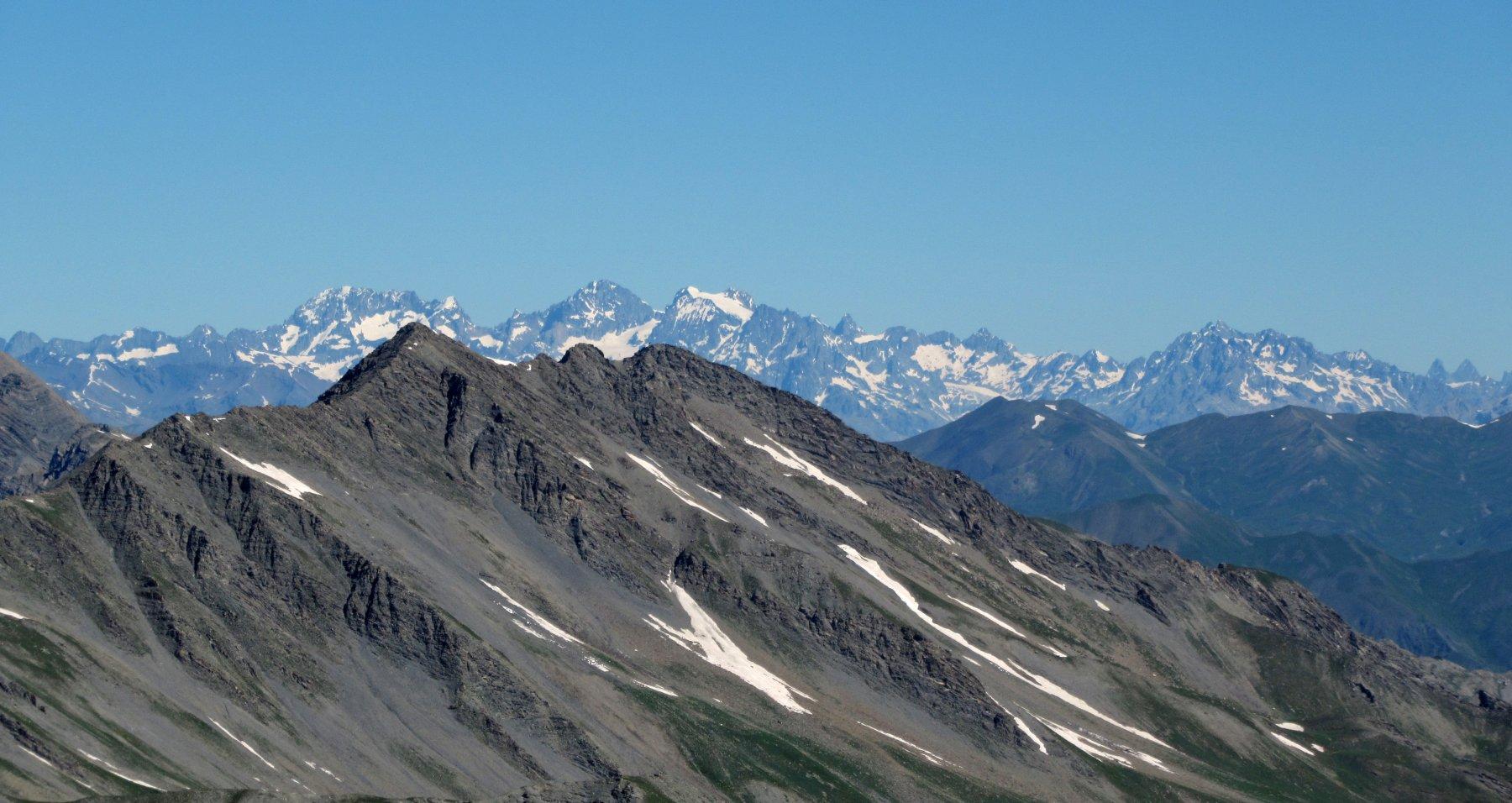 Vista sugli Ecrins dalla rocca Tre Vescovi