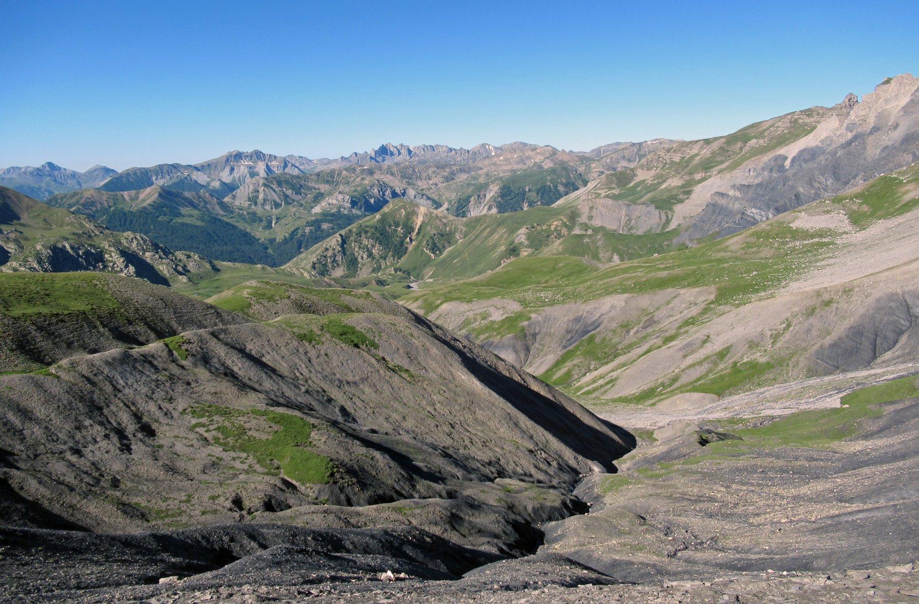Poco dopo il colle del Puriac, che colori in valle Tineé, Francia