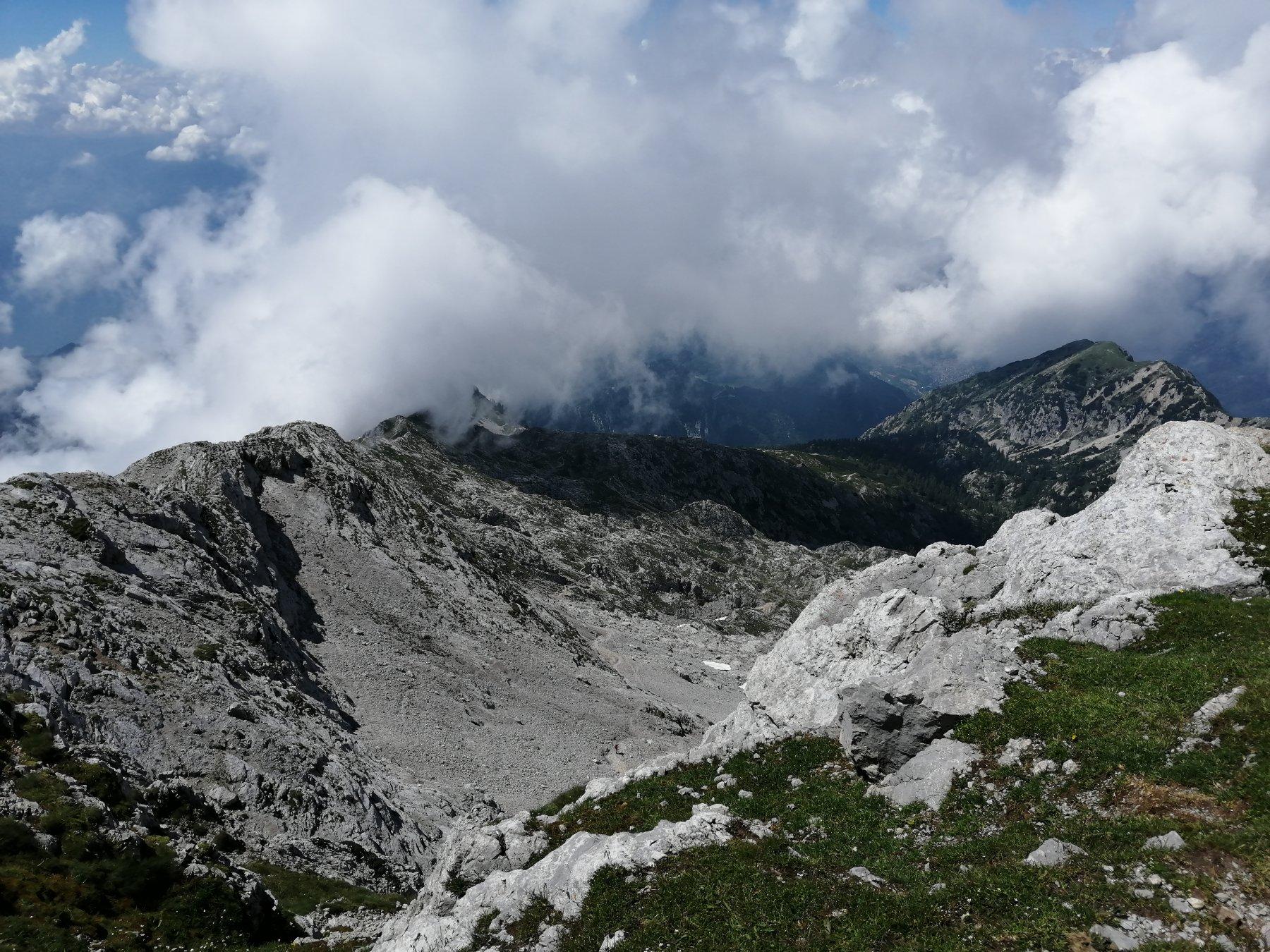 via della Ganda dall'alto