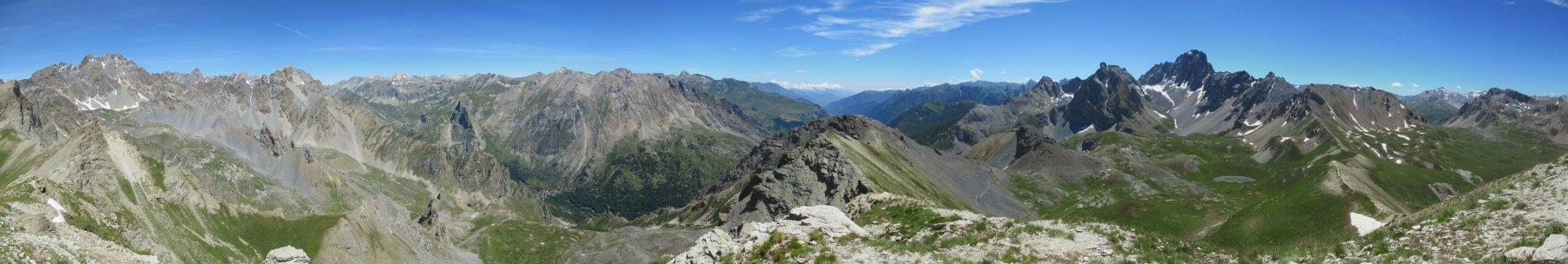 Panorama sul versante italiano