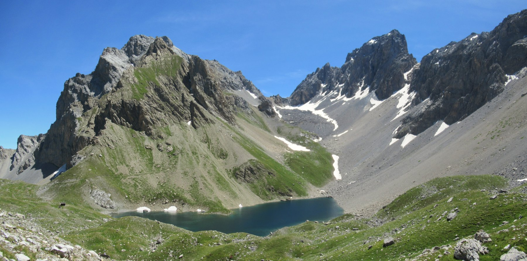 Lago d'Apsoi e Colle d'Enchiausa