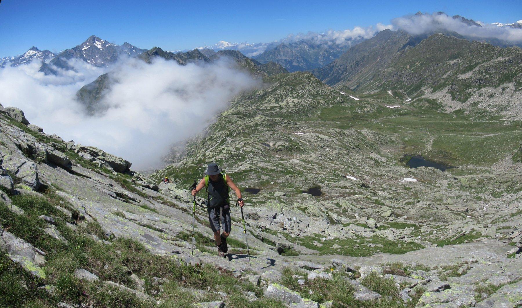 Salendo verso la punta Lazoney