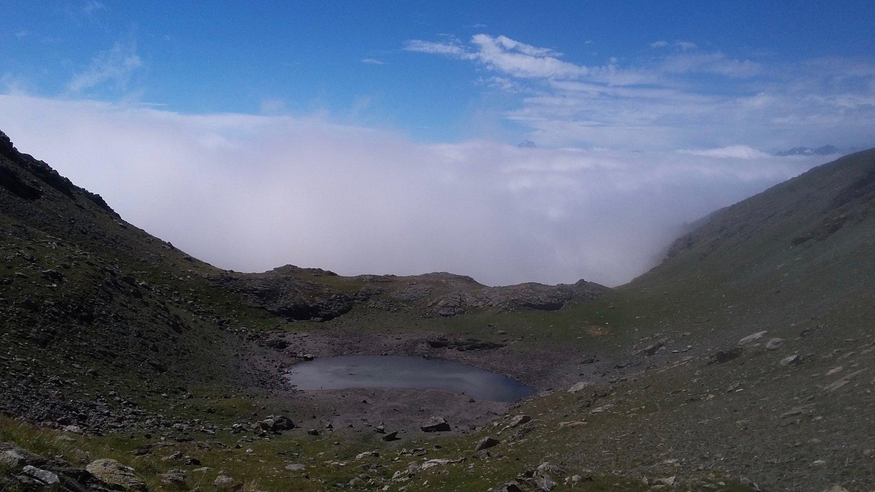 Laghetto Jouglard e la nebbia che mi aspetta