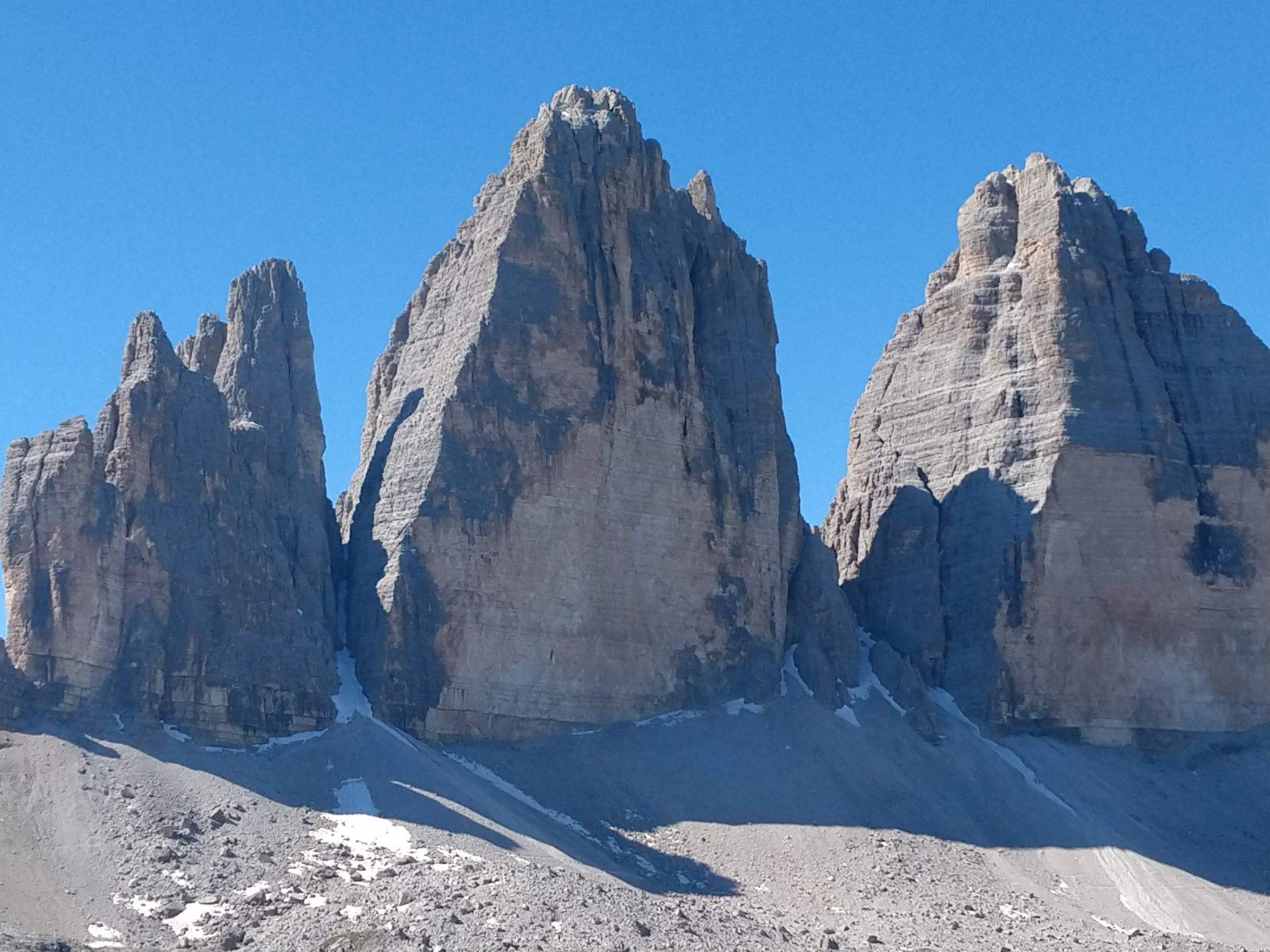 le 3 cime di Lavaredo parete nord