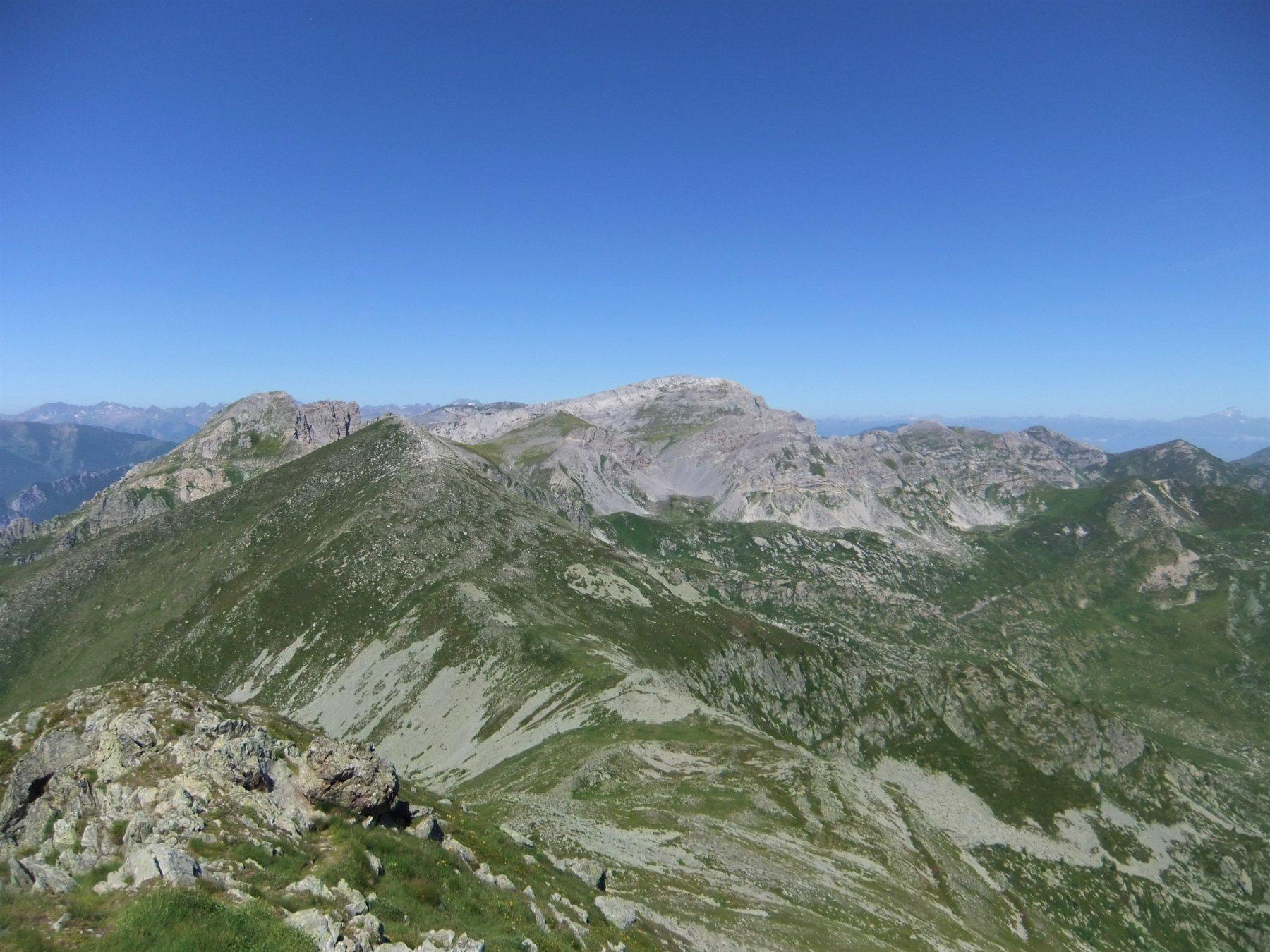 Panorama verso il Conoia ed il Mongioie