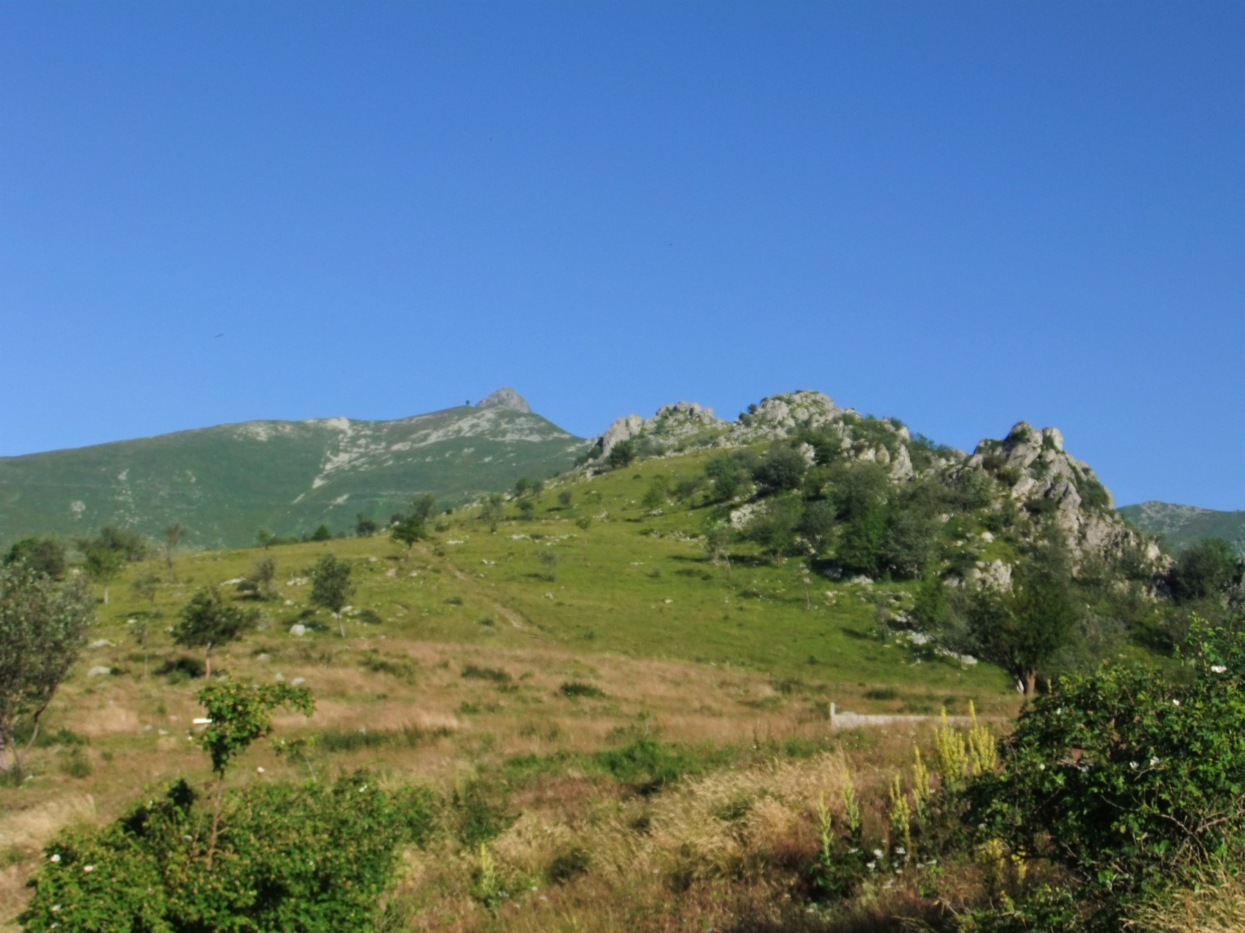 In fondo alla Costa Valcaira appare il Pizzo