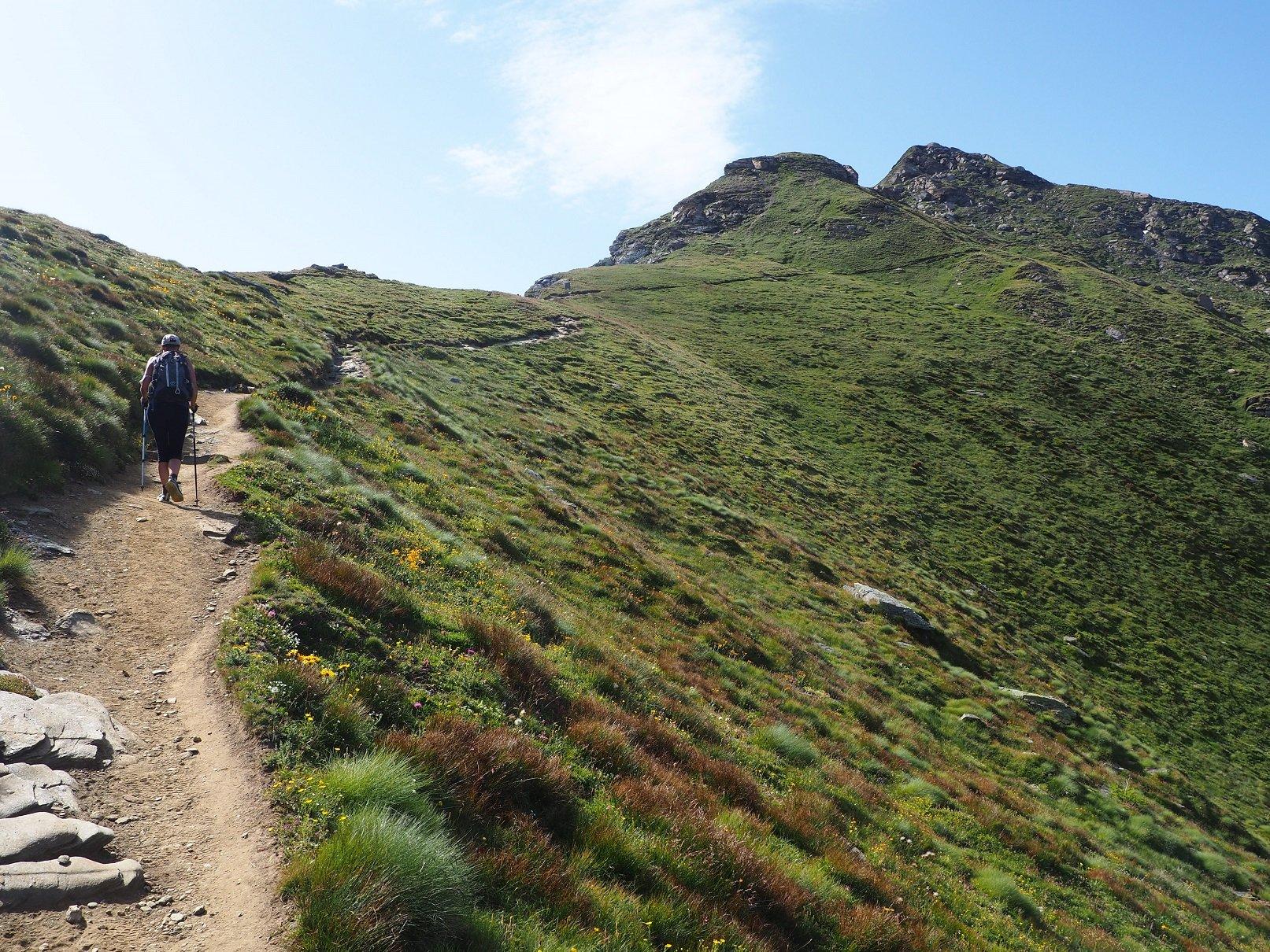 Sul sentiero poco dopo il Col Portola.