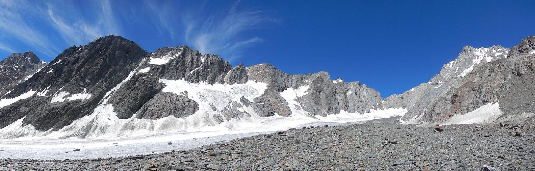 Il bacino dello Strahlegg-gletscher