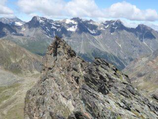 Cima centrale vista dalla orientale.