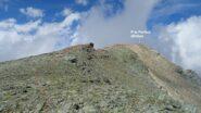 In rosso la traccia in cresta che prosegue verso la quota 3010mt. della Cresta del Fort (M.Fortino).