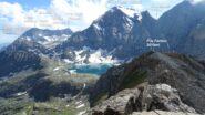 Panorama su quota 3010mt. Croce Rossa e Lago della Rossa.  Visto da quota 3024mt. della Cresta del Fort (M.Fortino).