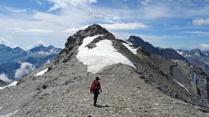 Ultimi metri della facile cresta per P.ta Collerin.