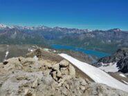 Il lago del Moncenisio dalla cima nord