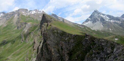 La Point de la Bonne Morte vista dal Mont de Balme