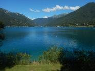 Vista sul lago verso Pieve