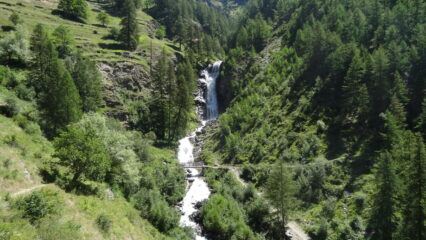 la cascata a Tignet