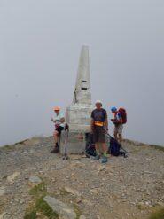 Cippo di vetta del Monte Saccarello.