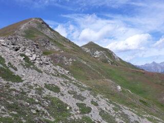 Punta Metz e Punta Chaligne dalla cresta di salita