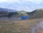 Lago di Chamolè dal col Chamolè