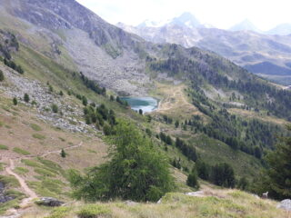 Lago di Chamolè dal col Replan