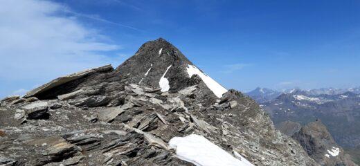 La cresta di salita all'Albaron