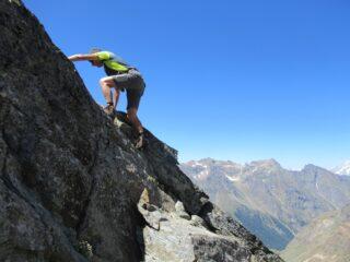 Breve tratto di arrampicata