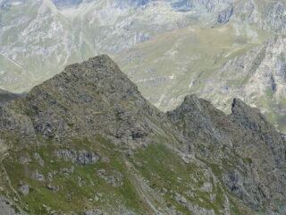 La cresta percorsa vista da sopra
