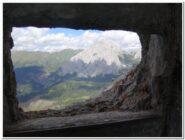 Dalle fortificazioni sulle pendici del Monte Lastroni vista sulle Alpi Carniche