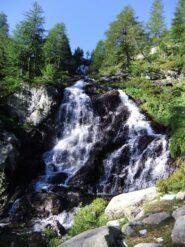 La seconda cascata che si incontra