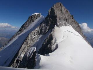 l'Aig. Blance dal Col de Peuterey..