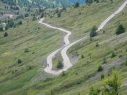 tornanti sul versante sud del Monte Genevris