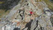La cresta verso la Punta Palasinaz