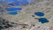 Dalla vetta vista verso i laghi del versante francese (Rabuons)