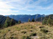 Dalla panchina sguardo sulla Val Vigezzo