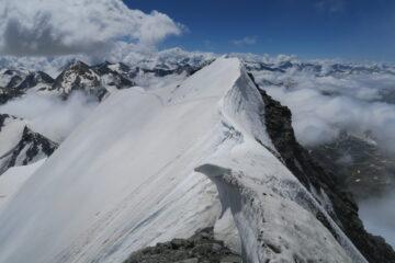 cresta affilata prima delle rocce finali