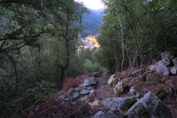 il sentiero poco sopra Issime