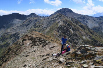 nei pressi del Mont Flassin con la cresta percorsa