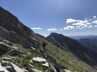 attraversamento sotto la cima Casaletti per raggiungere la cresta