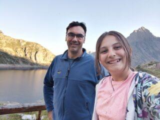 Selfie con vista bacino del Chiotas