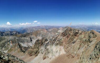 La cresta percorsa vista dalla seconda cima